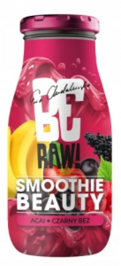 BeRaw SMOOTHIE BEAUTY ACAI CZARNY BEZ 250 ML NFC